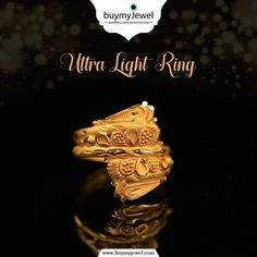 Don't wait for it. Select from our illuminating range of Ultra Light Rings. Gold Ring Designs, Jewellery Designs, Light Ring, Gold Girl, Gold Rings Jewelry, Plaster, Marriage, Range, Blouses