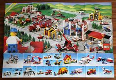 A spread advertising the LEGOLand Town theme, from a 1988 LEGO catalog