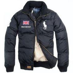 Ralph Lauren Men de 1007 chaqueta acolchada en la Marina