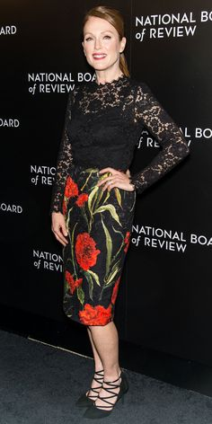 Julianne Moore's Red Carpet Style - In Dolce & Gabbana, 2015 - from InStyle.com