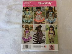 A personal favorite from my Etsy shop https://www.etsy.com/listing/265273747/american-girl-doll-clothes-simplicity