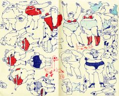 Drawings by Jonathan Djob Nkondo's