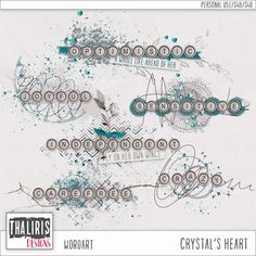 CRYSTAL'S HEART [WordArt] by Thaliris Designs by Thaliris Designs   Digital Scrapbooking Element Packs
