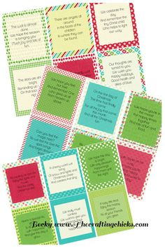 Free 12 Days of Christmas printables on www.theCraftingChicks.com