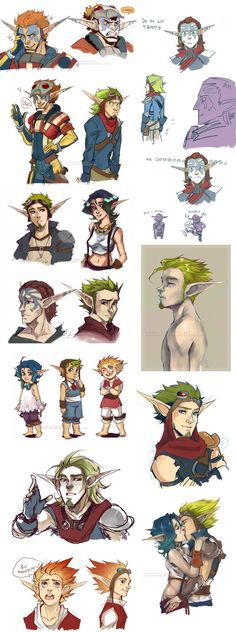 Jak and Daxter doodles by Sardiini on DeviantArt Comic Character, Game Character, Character Concept, Concept Art, Character Design, Jak And Daxter 3, Jak & Daxter, Video Game Art, Video Games