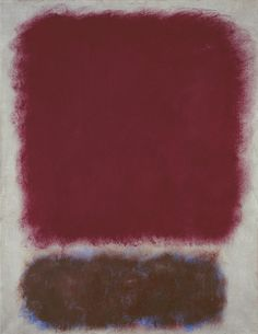 Mark Rothko, Untitled, Red over brown, 1967Oil On Paper, Mounted On Canvas31 x 23 in.