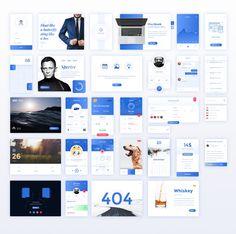Amazing Blue Ui Kit PSD
