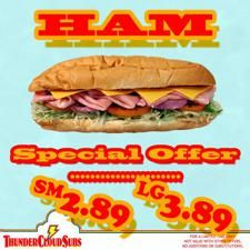 Eat ham, support musicians. Makes sense, right? HAAM Day is coming up and ThunderCloud Subs is celebrating with their Ham Sub on special for just $2.89 / $3.89. Like music to your mouth.  http://do512.com/event/2012/01/02/thunder-special