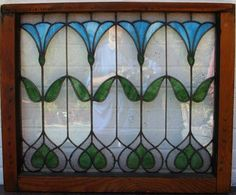 Antique-Stained-Glass-Window-Flowers