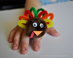 I HEART CRAFTY THINGS: DIY Turkey Ring for Kids