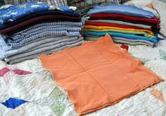 How to make cloth diapers out of t-shirts. Amazingly easy & super cute!