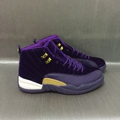 f178b111373 New Air Jordan 12 Velvet Purple Gold Shoes Velvet Jordans, Nike Shoes For  Sale,