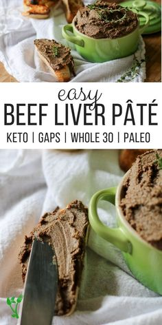 Easy Beef Liver Pate Recipe (Keto, Paleo, GAPS) – Prepare and Nourish – Everything About Appetizers Pate Recipes, Liver Recipes, No Carb Recipes, Atkins Recipes, Beef Recipes, Real Food Recipes, Healthy Appetizers, Appetizer Recipes, Kielbasa Appetizer