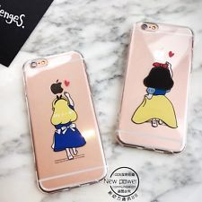 Lovely Princess Snow White Cinderella Transparent Case For iPhoneSE 5 6 6S 6Plus
