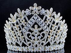 Janefashions Daisy Austrian Crystal Rhinestone Tiara Crown Bridal Prom Pageant T1861g Gold *** Check out the image by visiting the link.