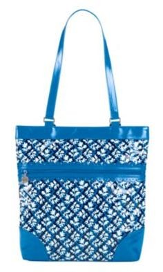 9b3f6e9dd2 Women s Shoulder Bags - Vera Bradley Frill Collection Everything Nice Tote  in Blue Lagoon   Visit the image link more details.