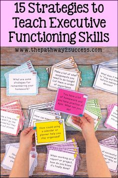 Whether you teach middle school or elementary school, read up on these simple and concrete strategies for teaching executive functioning skills in the classroom. These are techniques that every educat Special Education Classroom, Elementary Education, Education English, Education College, Waldorf Education, Education Logo, Education Quotes, Kids Education, Study Skills