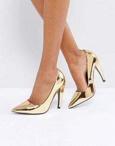 9049cf490 Shoes for Sale& Women's Boots Sale | ASOS. Sapatos DouradosSapatos De Baile  DouradosSalto Alto ...