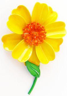Vintage Flower Enamel Pin   Flickr - Photo Sharing!