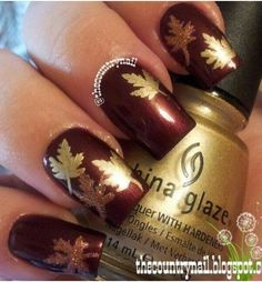 Cute dark brown nails - Faith