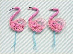 flamingos made from wire