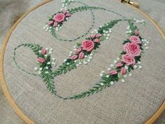 Japanese Embroidery Flowers contrast in style and substance Embroidery Alphabet, Hardanger Embroidery, Embroidery Monogram, Hand Embroidery Stitches, Silk Ribbon Embroidery, Embroidery Hoop Art, Embroidery Techniques, Cross Stitch Embroidery, Embroidery Designs