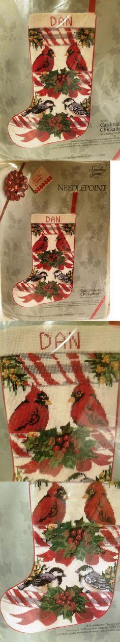 Needlepoint Kits 3109: Candamar 30597 Cardinals And Chickadees Christmas Stocking Kit ~ Sealed -> BUY IT NOW ONLY: $74.5 on eBay!