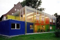 """""""BED BY NIGHT"""".  A shipping container architecture REFUGE FOR HOMELESS CHILDREN."""