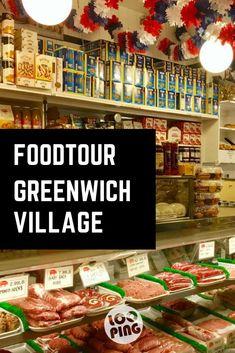 Station 4: New York Klassiker, das Pastrami Sandwich. Nach den Bagel-Kugeln wäre ich eigentlich satt, aber was wäre eien Foodtour in New York, ohne ein klassisches Pastrami Sandwich zu probieren? Dafür führt uns Alex in den italienischen Delikatessen Laden Faicco's und lässt das Sandwich handbreit mit Pastrami, Salami, Mozzarella und Tomaten belegen. #Foodtour #GreenwichVillage #newyork #NYC #Städtreise #Reisetipp #Reise Greenwich Village, Pastrami Sandwich, New York City Travel, Nyc, Road Trip, Mozzarella, Pizza, Belfast, Dublin