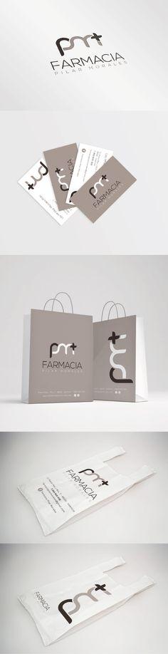 Diseño de identidad corporativa para la imagen de Farmacia Pilar Morales, Valencia. #imagencorporativa #branding #diseñografico #papeleriacorporativa #farmacia