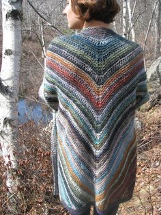 "Among the Birches by Ilga Leja--knit with Noro ""Silk Garden"""