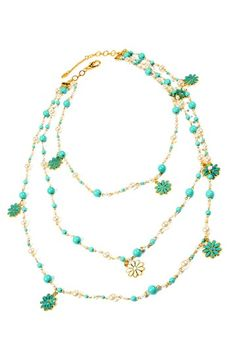 Madeline Necklace by Spring Trend: Flower Jewelry on @HauteLook