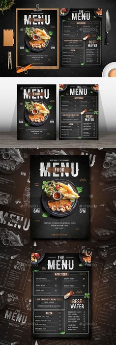 This Ai & Psd file set on mm + Bleed. ready to print and well organized in layers. You can easily change everything like color, image, text and elements. Menu Restaurant Design, Resturant Menu, Pizza Menu Design, Cafe Menu Design, Decoration Restaurant, Food Menu Design, Restaurant Menu Template, Food Poster Design, Restaurant Ideas