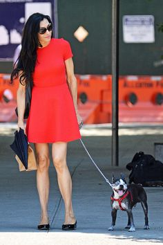 Famke Janssen Walks her Dog in NYC | Tom + Lorenzo