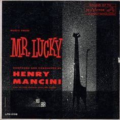 Mr Lucky Record Album Cover  | #typography #black #grey #white #red
