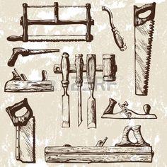 set of tools Stock Vector