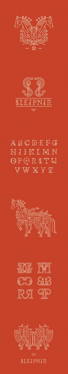 Sleipnir by Petros Afshar, via Behance | #poster #typography #illustration