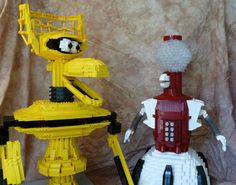 Mystery Science Theater Bots -- Now in Lego [PICS]. If someone bought these sets for me, I'd have them done in less than a week lol