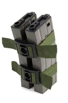 BattleAxe Airsoft M4/M16 Double Magazine Connector Clamp w/ Adjustable Straps by BattleAxe. $9.95. This BattleAxe Airsoft Magazine connector is great for connecting two M4/M16 magazines. This is perfect for not only conserving space, but also for reducing reload time. These clamps are made out of high quality ABS plastic and Nylon weave magazine straps. The BattleAxe Magazine connectors are lightweight and compact, and work just as well as the all metal magazine clamps.