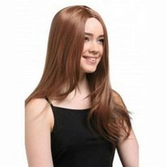 Human Hair Full Lace Wig Straight Light Auburn starting with $289.95