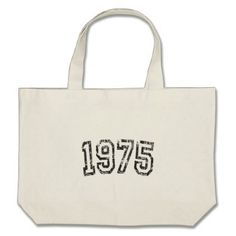 1975 Vintage Birthday Large Tote Bag  $39.85  by Shopbin  - cyo customize personalize unique diy