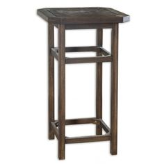 Reno Bar Table: Solid Acacia Wood Stained Dark Coffee Bean With Rugged, Indoor/outdoor Finish.