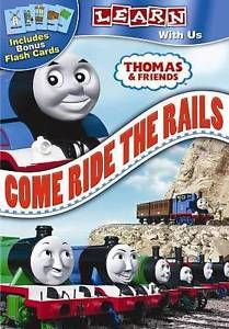 NEW-Thomas-amp-Friends-Come-Ride-the-Rails-DVD-With-Flashcards-Thomas-The-Train