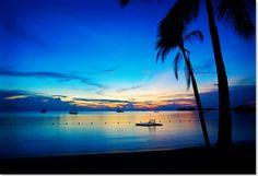 Negril Jamaica Sonnenuntergang Ozean Palmen Entstpannung