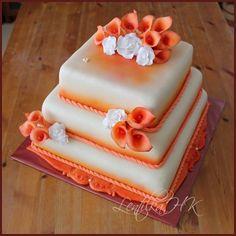 Svatební - oranžové kaly