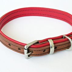 These designer leather padded dog collars are a real style statement in a classic way. #dogcollar