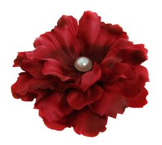 Peony Flower Hair Clip with Pin Brooch (Red) >>> This is an Amazon Affiliate link. You can find more details by visiting the image link.