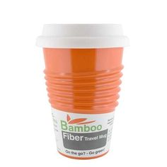 Made By Humans Bamboo Fiber Mug Orange *** For more information, visit image link.
