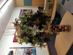 Custom Made Chocolate and Bronze Christmas Floral Arrangement Design by Christian Rebollo 2012 for store 2870
