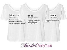 Bridesmaid Definition: Custom Bella Flowy Lightweight Simple T-Shirt - Bridal Party Tees